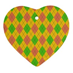 Plaid Pattern Heart Ornament (two Sides) by Valentinaart