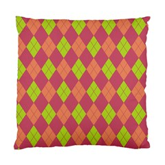 Plaid Pattern Standard Cushion Case (two Sides) by Valentinaart