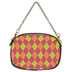 Plaid Pattern Chain Purses (two Sides)  by Valentinaart