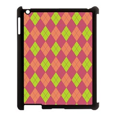 Plaid Pattern Apple Ipad 3/4 Case (black)