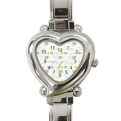 Vintage Spring Flower Pattern  Heart Italian Charm Watch by TastefulDesigns
