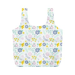 Vintage Spring Flower Pattern  Full Print Recycle Bags (m)  by TastefulDesigns