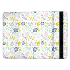 Vintage Spring Flower Pattern  Samsung Galaxy Tab Pro 12 2  Flip Case by TastefulDesigns