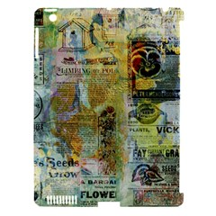 Old Newspaper And Gold Acryl Painting Collage Apple Ipad 3/4 Hardshell Case (compatible With Smart Cover) by EDDArt