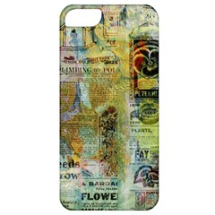 Old Newspaper And Gold Acryl Painting Collage Apple Iphone 5 Classic Hardshell Case by EDDArt