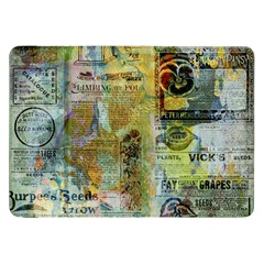 Old Newspaper And Gold Acryl Painting Collage Samsung Galaxy Tab 8 9  P7300 Flip Case by EDDArt