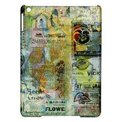 Old Newspaper And Gold Acryl Painting Collage Ipad Air Hardshell Cases by EDDArt