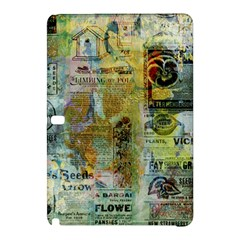Old Newspaper And Gold Acryl Painting Collage Samsung Galaxy Tab Pro 12 2 Hardshell Case by EDDArt