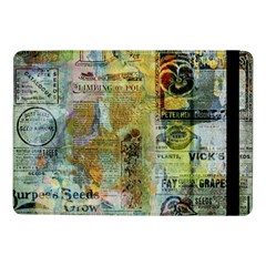 Old Newspaper And Gold Acryl Painting Collage Samsung Galaxy Tab Pro 10 1  Flip Case by EDDArt