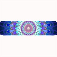 Power Flower Mandala   Blue Cyan Violet Large Bar Mats by EDDArt