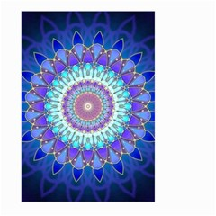 Power Flower Mandala   Blue Cyan Violet Large Garden Flag (two Sides)