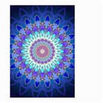 Power Flower Mandala   Blue Cyan Violet Large Garden Flag (Two Sides) Back