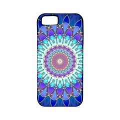 Power Flower Mandala   Blue Cyan Violet Apple Iphone 5 Classic Hardshell Case (pc+silicone) by EDDArt