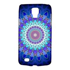 Power Flower Mandala   Blue Cyan Violet Galaxy S4 Active by EDDArt