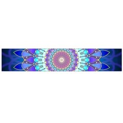 Power Flower Mandala   Blue Cyan Violet Flano Scarf (large) by EDDArt