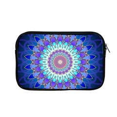 Power Flower Mandala   Blue Cyan Violet Apple Macbook Pro 13  Zipper Case by EDDArt
