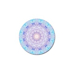 India Mehndi Style Mandala   Cyan Lilac Golf Ball Marker (4 Pack) by EDDArt