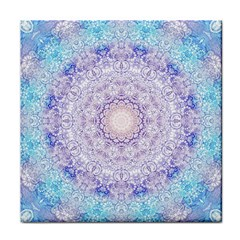 India Mehndi Style Mandala   Cyan Lilac Face Towel by EDDArt