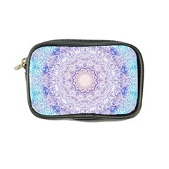 India Mehndi Style Mandala   Cyan Lilac Coin Purse by EDDArt