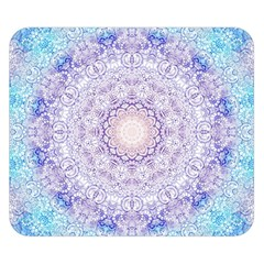 India Mehndi Style Mandala   Cyan Lilac Double Sided Flano Blanket (small)  by EDDArt