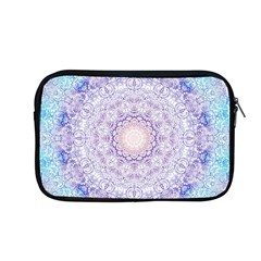 India Mehndi Style Mandala   Cyan Lilac Apple Macbook Pro 13  Zipper Case by EDDArt