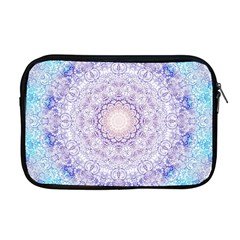 India Mehndi Style Mandala   Cyan Lilac Apple Macbook Pro 17  Zipper Case by EDDArt