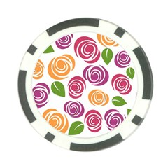 Colorful Seamless Floral Flowers Pattern Wallpaper Background Poker Chip Card Guard by Amaryn4rt