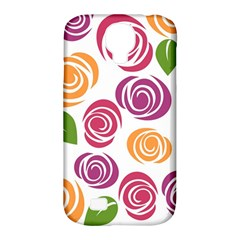Colorful Seamless Floral Flowers Pattern Wallpaper Background Samsung Galaxy S4 Classic Hardshell Case (pc+silicone)