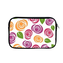 Colorful Seamless Floral Flowers Pattern Wallpaper Background Apple Macbook Pro 13  Zipper Case by Amaryn4rt
