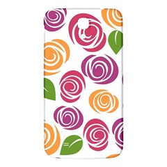 Colorful Seamless Floral Flowers Pattern Wallpaper Background Samsung Galaxy Mega I9200 Hardshell Back Case