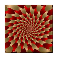 Fractal Red Petal Spiral Tile Coasters by Amaryn4rt