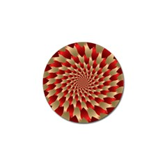 Fractal Red Petal Spiral Golf Ball Marker (4 Pack) by Amaryn4rt