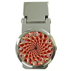 Fractal Red Petal Spiral Money Clip Watches by Amaryn4rt