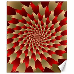 Fractal Red Petal Spiral Canvas 20  X 24   by Amaryn4rt