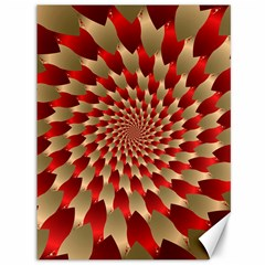 Fractal Red Petal Spiral Canvas 36  X 48   by Amaryn4rt