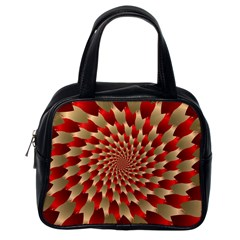 Fractal Red Petal Spiral Classic Handbags (one Side) by Amaryn4rt