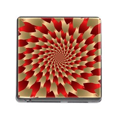 Fractal Red Petal Spiral Memory Card Reader (square) by Amaryn4rt