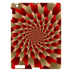 Fractal Red Petal Spiral Apple Ipad 3/4 Hardshell Case by Amaryn4rt