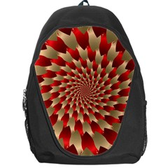 Fractal Red Petal Spiral Backpack Bag by Amaryn4rt