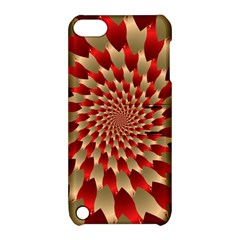 Fractal Red Petal Spiral Apple Ipod Touch 5 Hardshell Case With Stand by Amaryn4rt