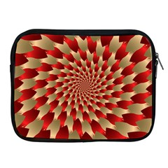 Fractal Red Petal Spiral Apple Ipad 2/3/4 Zipper Cases by Amaryn4rt