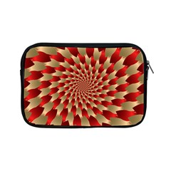 Fractal Red Petal Spiral Apple Ipad Mini Zipper Cases by Amaryn4rt