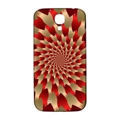 Fractal Red Petal Spiral Samsung Galaxy S4 I9500/i9505  Hardshell Back Case by Amaryn4rt