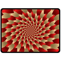 Fractal Red Petal Spiral Double Sided Fleece Blanket (large)  by Amaryn4rt
