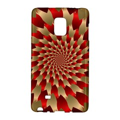 Fractal Red Petal Spiral Galaxy Note Edge