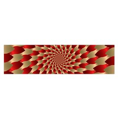 Fractal Red Petal Spiral Satin Scarf (oblong) by Amaryn4rt