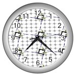 Fractal Design Pattern Wall Clocks (Silver)  Front
