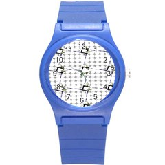 Fractal Design Pattern Round Plastic Sport Watch (s) by Amaryn4rt