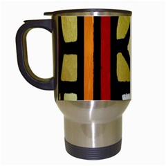 A Detail Of A Stained Glass Window Travel Mugs (white) by Amaryn4rt