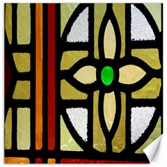 A Detail Of A Stained Glass Window Canvas 20  X 20   by Amaryn4rt
